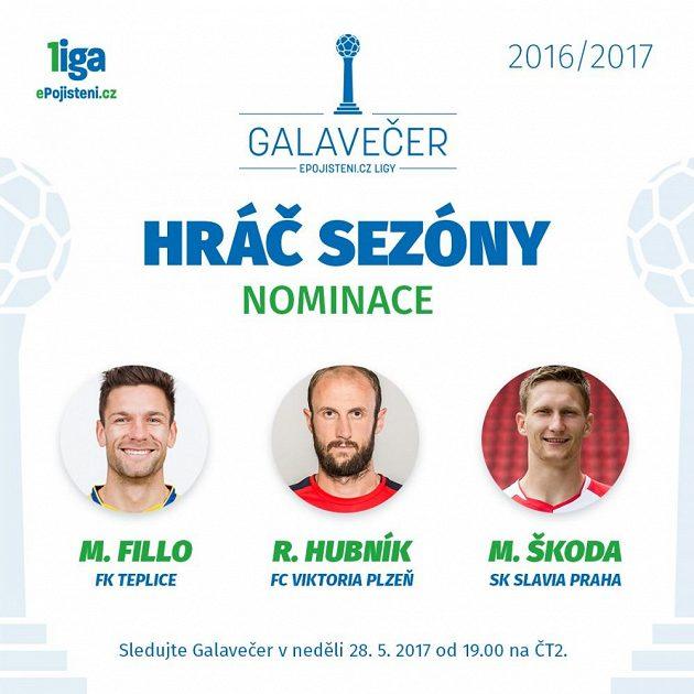 Hráč sezóny - nominace.