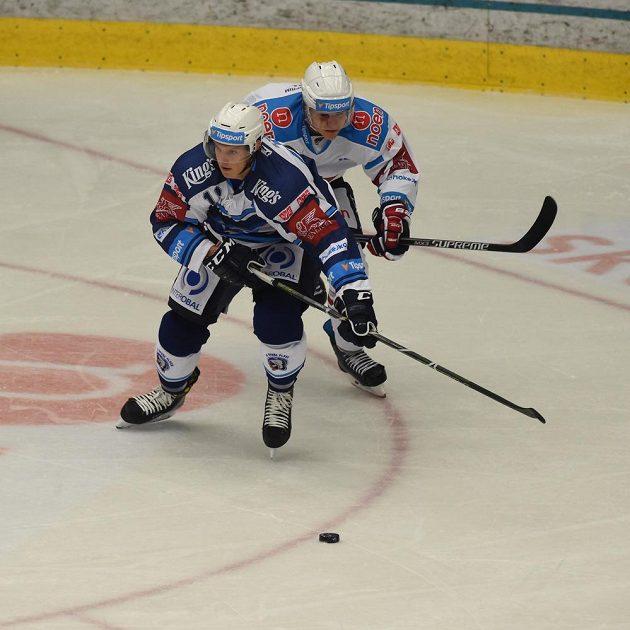Z utkání Chomutov - Plzeň.