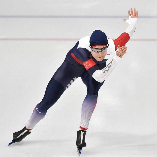 Česká reprezentantka Karolína Erbanová na olympijské trati 1000 metrů.