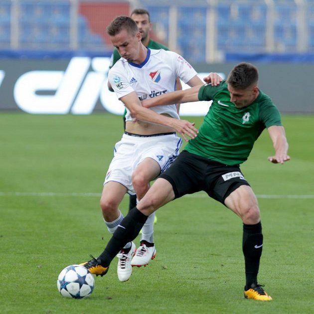 Zleva Martin Sus z Baníku Ostrava a Lukáš Masopust z Jablonce.