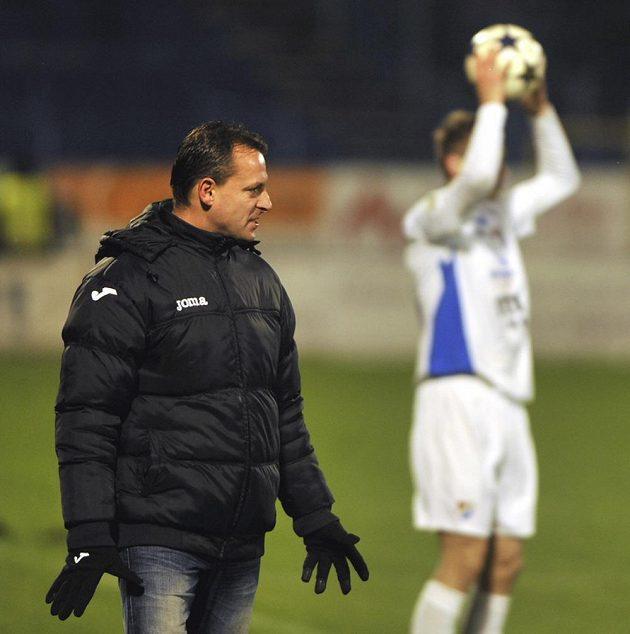 Trenér Baníku Ostrava Martin Svědík (vlevo) v utkání 15. kola Gambrinus ligy s Teplicemi.