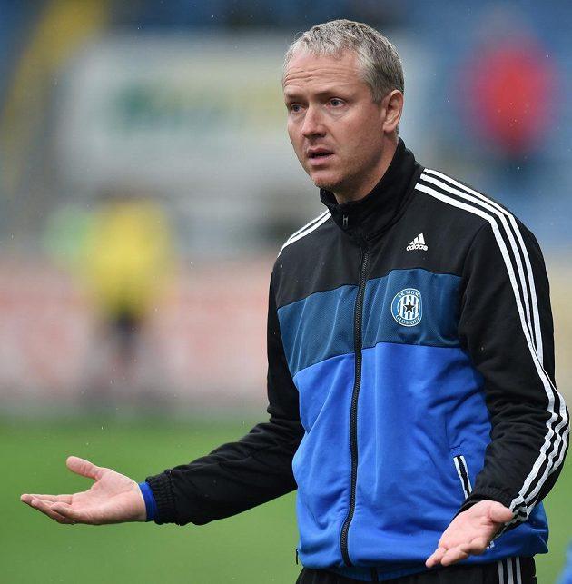 Trenér Olomouce Václav Jílek během utkání v Liberci.