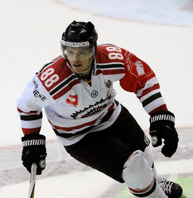 Útočník Andreas Johnson dal jediný gól Frölundy při utkání s Litvínovem v LM.