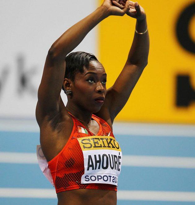 Murielle Ahouréová, sprinterka z Pobřeží slonoviny.
