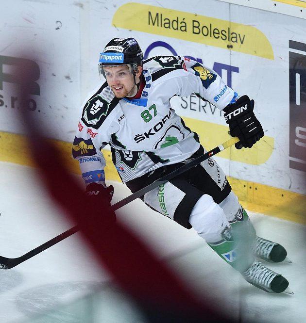 Útočník Pavel Musil, autor druhého gólu Boleslavi proti Litvínovu.