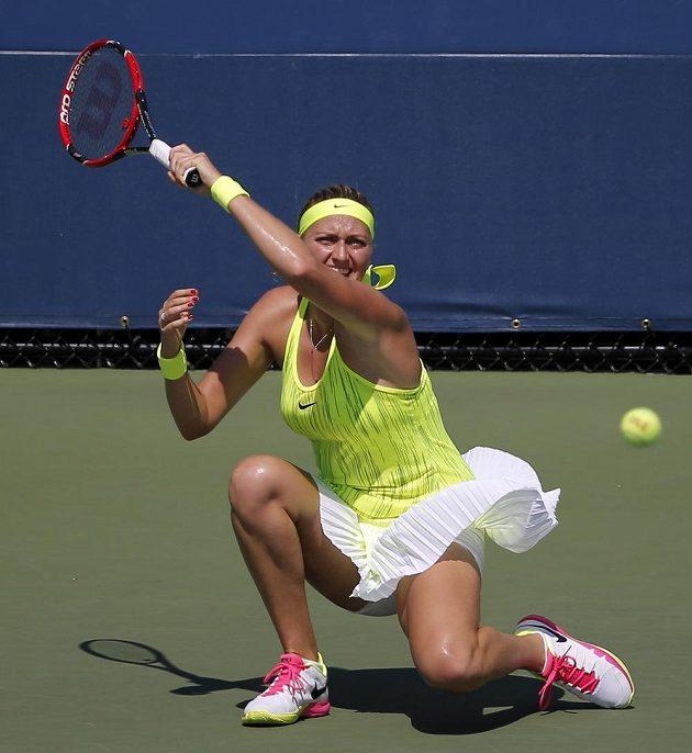 Petra Kvitová v utkání 1. kola US Open.