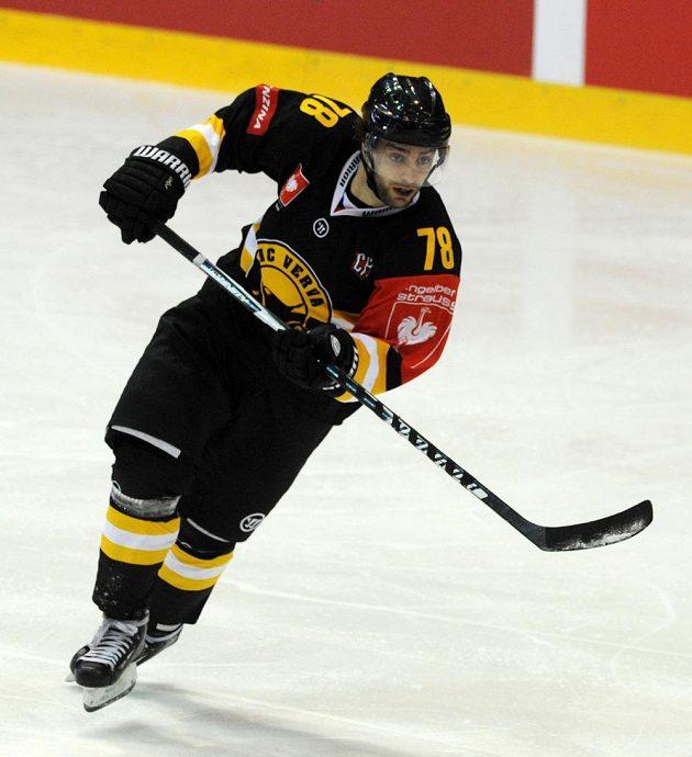 Litvínovský útočník Robin Hanzl, autor vítězné trefy českého mistra v úvodním osmifinále Ligy mistrů.