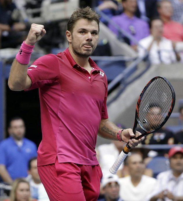 Stan Wawrinka ve finále US Open porazil Novaka Djokoviče ve čtyřech setech.