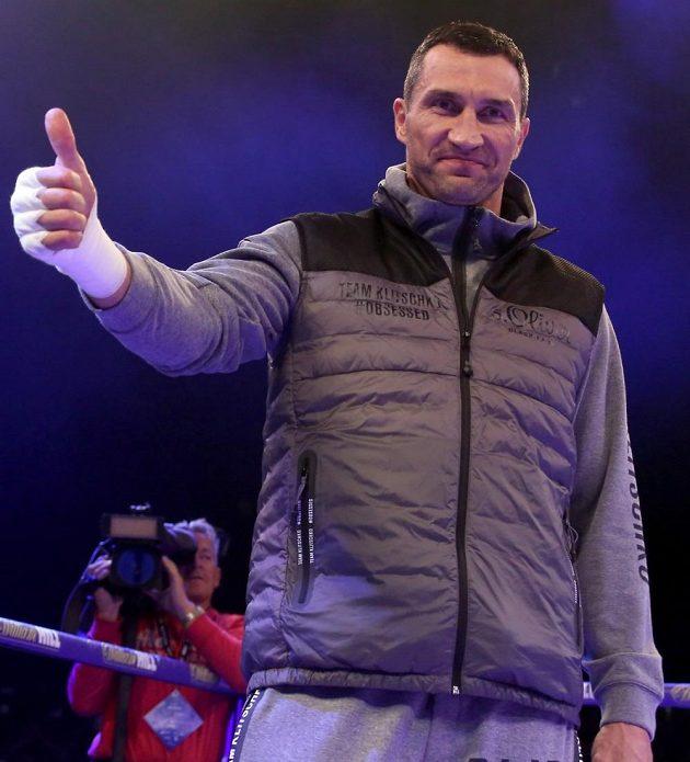 Ukrajinský boxer Vladimir Kličko je před bitvou s Anthonym Joshuou v dobré náladě.