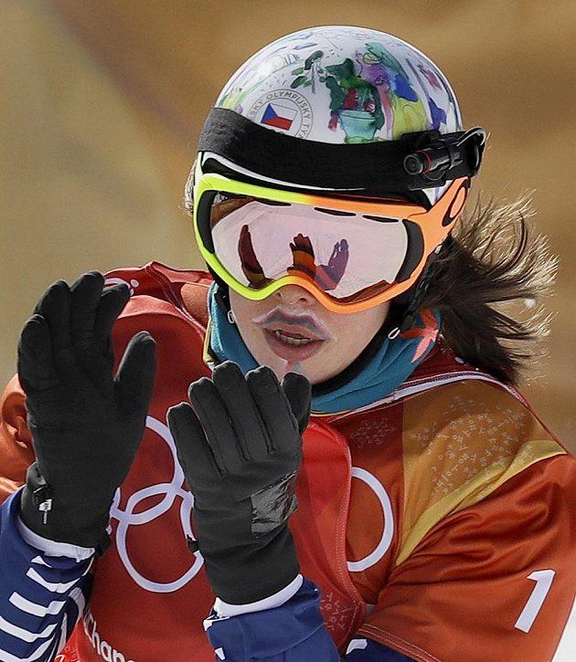 Eva Samková po vítězném semifinále.
