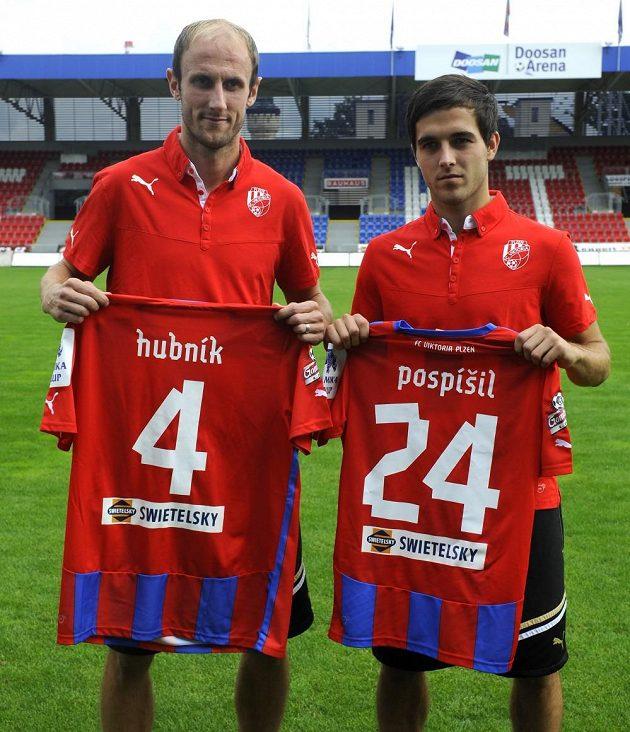 Nové posily Viktorie Plzeň. Roman Hubník (vlevo) a Martin Pospíšil.
