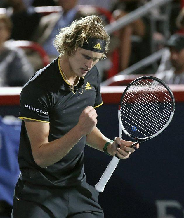 Němec Alexander Zverev se raduje, v Montrealu postoupil do finále.