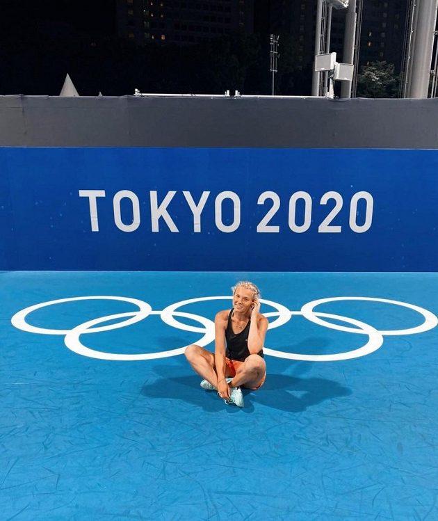 Kateřna Siniaková po triumfu v Tokiu.