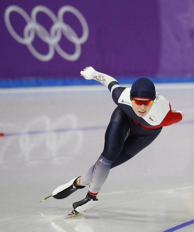 Česká rychlobruslařka Nikola Zdráhalová během závodu na 1500 m.