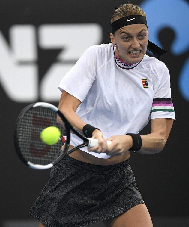 Tenistka Petra Kvitová měla v utkání s Rumunkou Beguovou navrch, stejně ale hrála s maximálním úsilím každý míč.