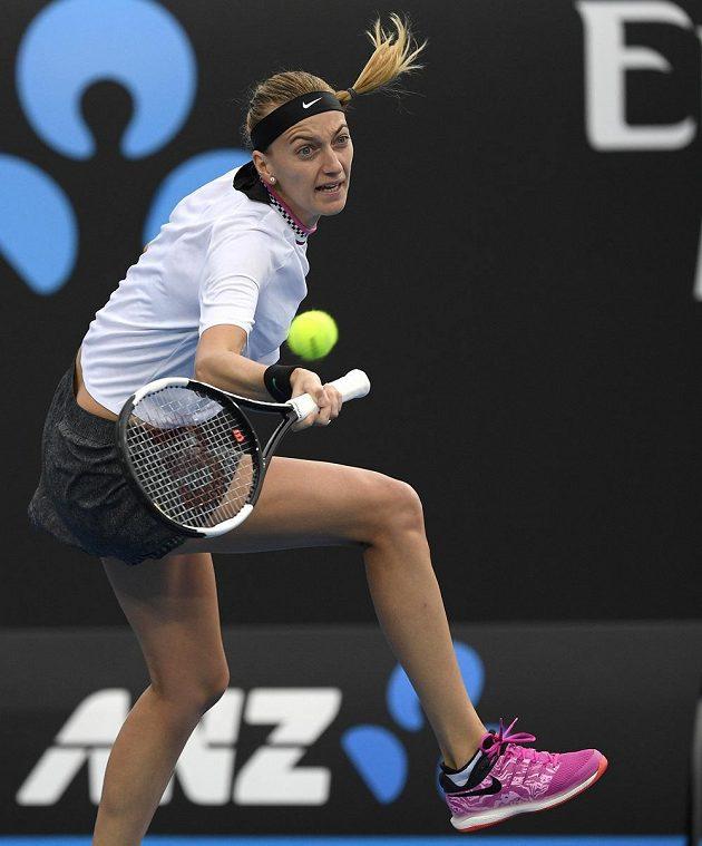 Maximální úsilí v podání tenistky Petry Kvitové na Australian Open.