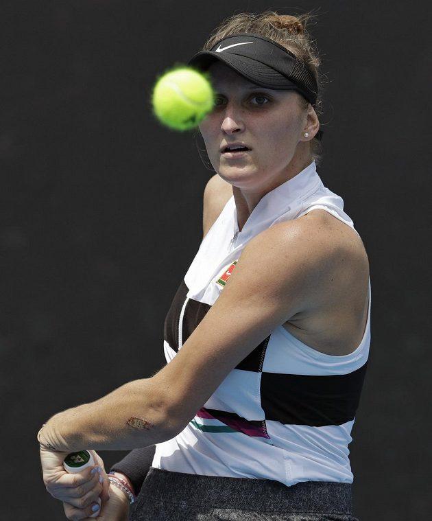 Česká tenistka Markéta Vondroušová v akci.