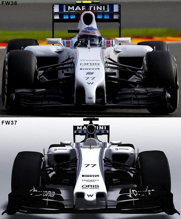 FW36 vs. FW37. Porovnání vozů Williams z loňského a pro letošní ročník F1.