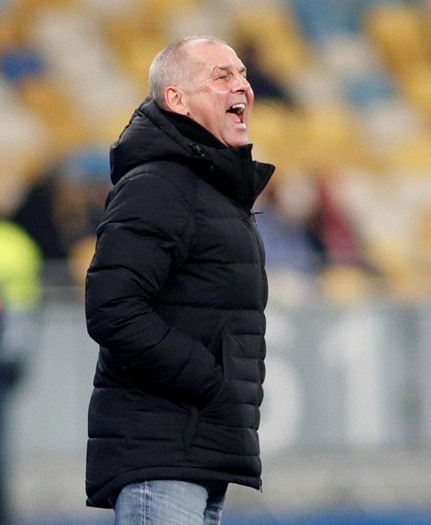 Jablonecký trenér Petr Rada během utkání Evropské ligy s Dynamem Kyjev.