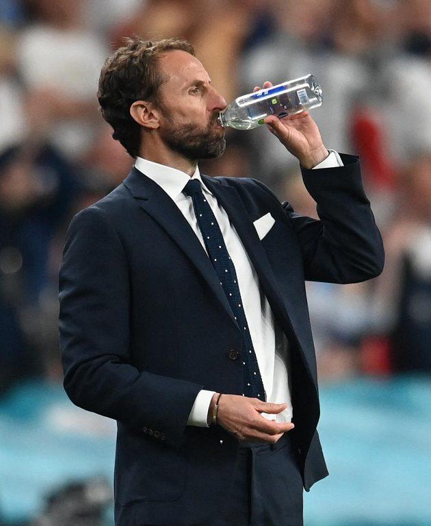 Anglický kouč Gareth Southgate ve finále ME.