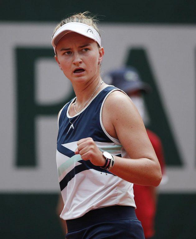 Barbora Krejčíková předvedla v prvním setu výborný výkon