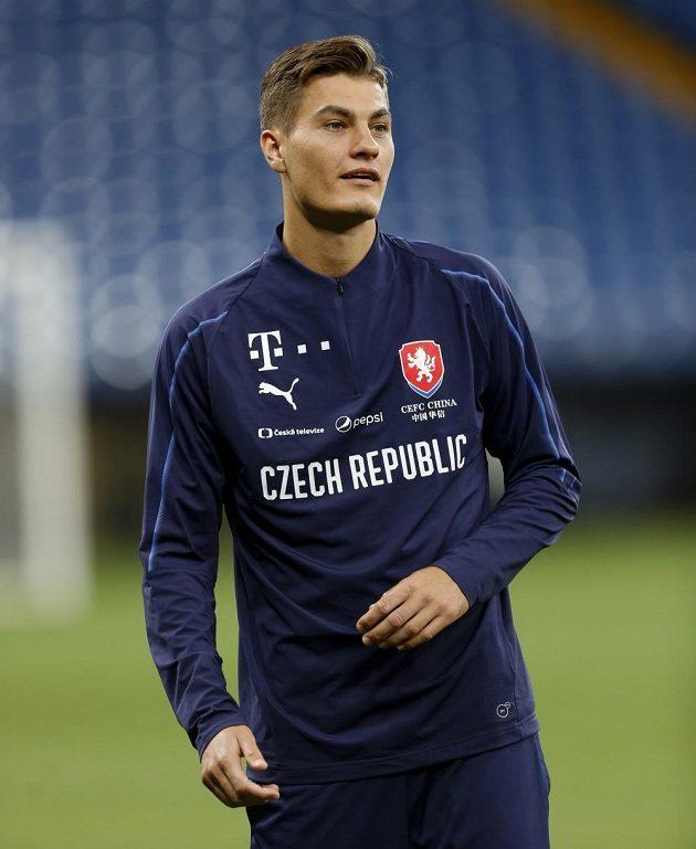 Patrik Schick na tréninku národního týmu