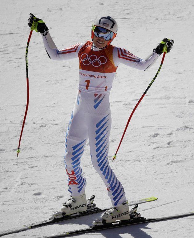 Ačkoliv jela Lindsey Vonnová Super-G s číslem 1, na olympijskou medaili nedosáhla.
