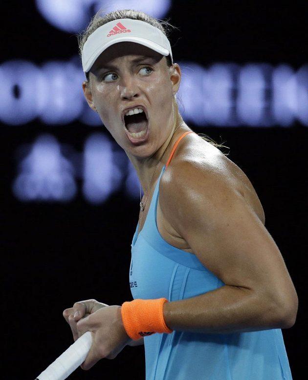 Německá obhájkyně titulu Angelique Kerberová.