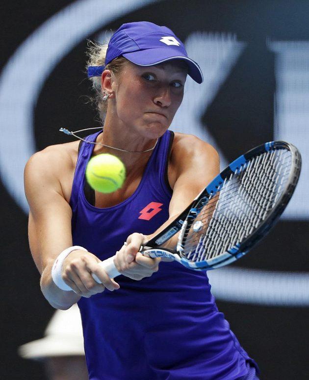 Denisa Allertová během utkání 1.kola Australian Open.