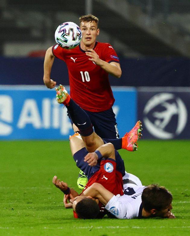 Ondřej Šašinka v zápase s Itálií.