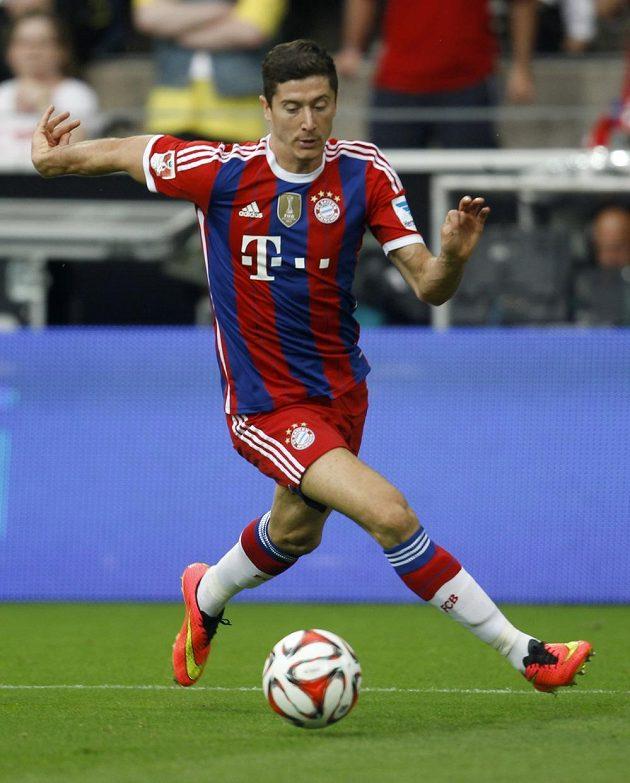 Útočník Robert Lewandowski v dresu Bayernu Mnichov.