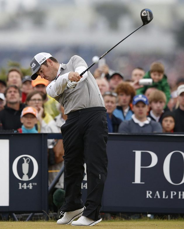 Jihoafričan Louis Oosthuizen na golfovém majoru British Open.