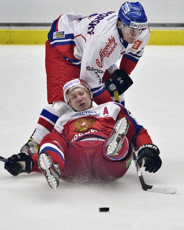 Petr Zámorský hokejisty Ruska k velkým šancím nepustil.