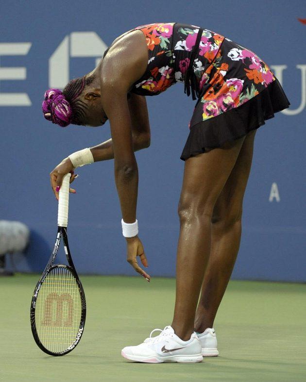 Venus Williamsová skončila na US Open ve druhém kole.