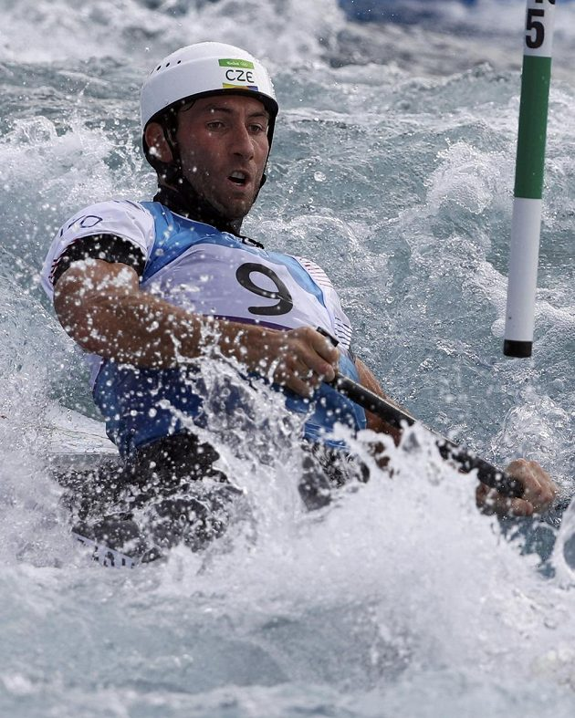 Vítězslav Gebas v semifinále v Riu.