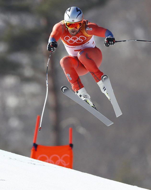 Norský reprezentant Aksel Lund Svindal patřil mezi favority olympijského sjezdu a tuto roli naplno potvrdil.