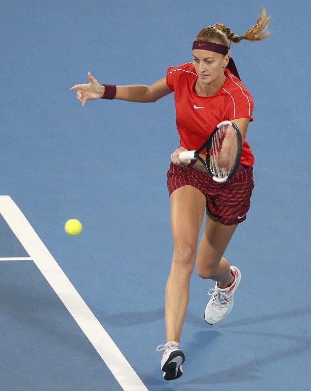 Petra Kvitová v zápase s Angeliqou Kerbrerovou