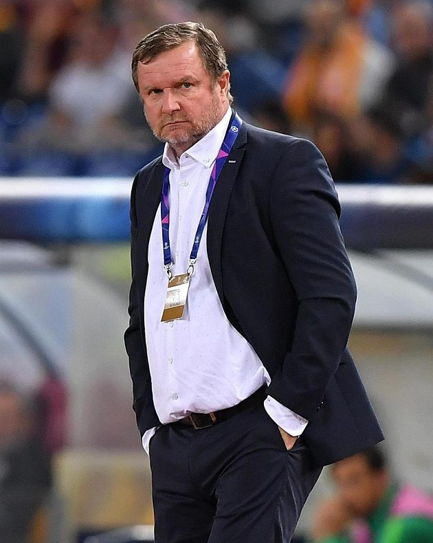 Plzeňský trenér Pavel Vrba neměl v Římě důvody k radosti.