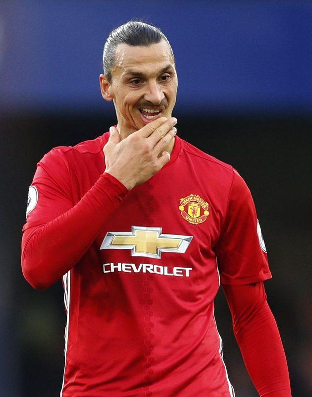 Smutný útočník Manchesteru United Zlatan Ibrahimovic.