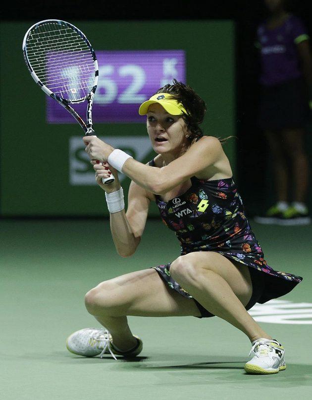 Polská tenistka Agnieszka Radwaňská (na snímku) si na Turnaji mistryň poradila s Petrou Kvitovou ve dvou setech.