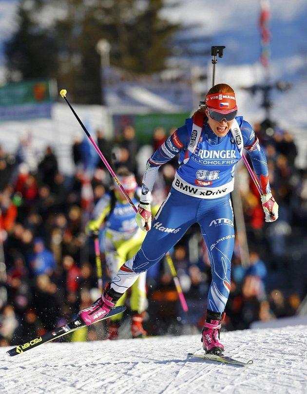 Gabriela Koukalová si jede pro zlato ve sprintu na MS.