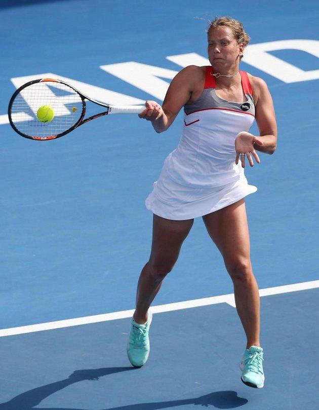 Česká tenistka Barbora Záhlavová-Strýcová na turnaji v Aucklandu.