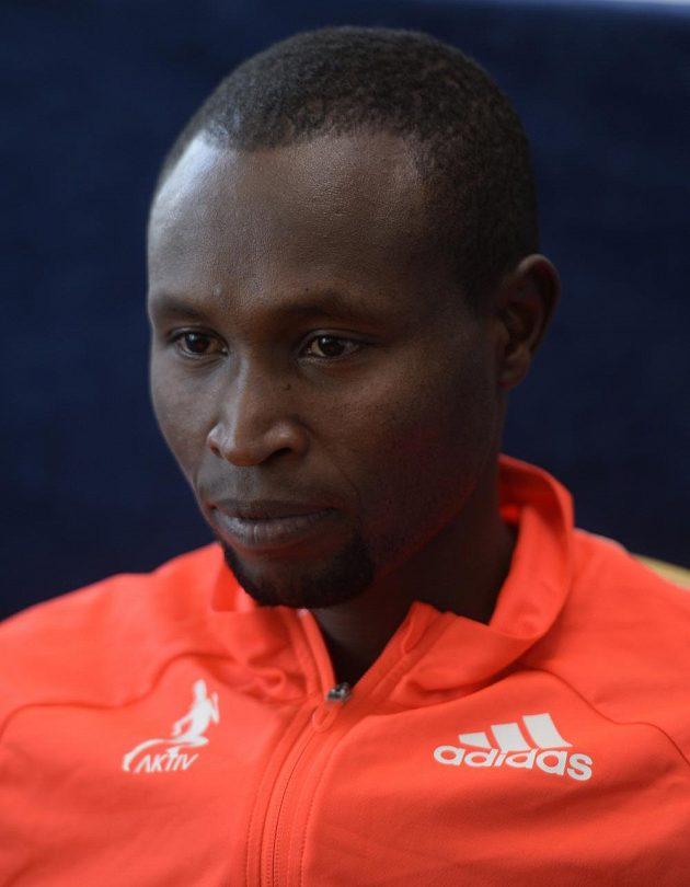 Držitel nejrychlejšího maratónského času v historii Geoffrey Mutai před závodem Birell Grand Prix Praha.