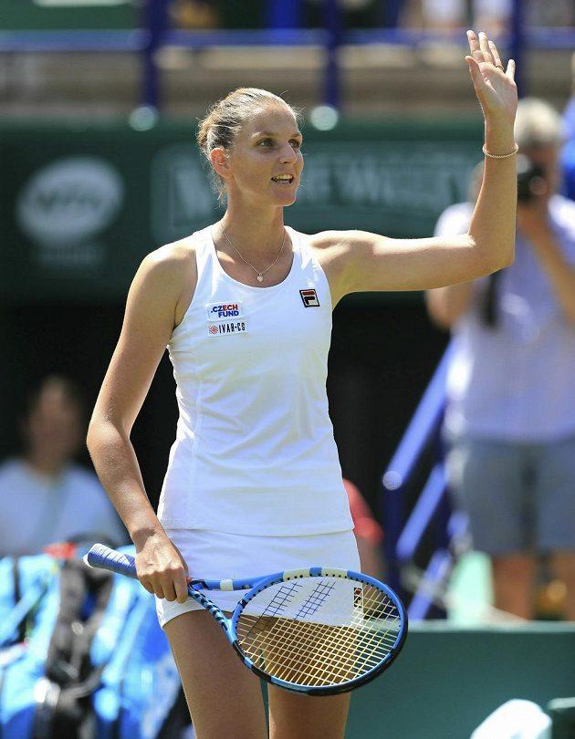 Skvělá forma zdobí českou tenistku Karolínu Plíškovou krátce před Wimbledonem. Postoupila do finále turnaje v Eastbourne.
