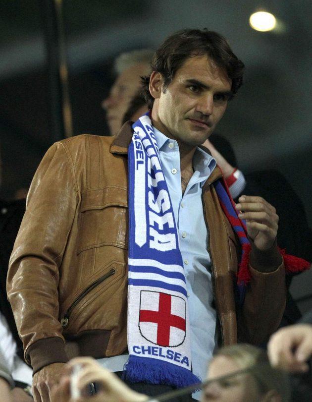 Úvodní semifinálový duel Evropské ligy mezi Basilejí a londýnskou Chelsea si nenechala ujít ani bývalá světová tenisová jednička Roger Federer.