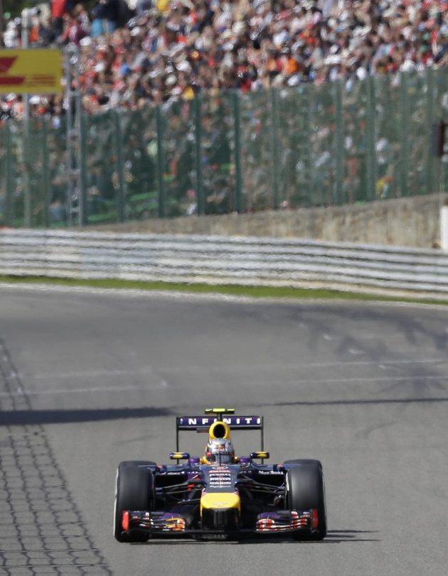 Daniel Ricciardo z Red Bullu během Velké ceny Belgie.
