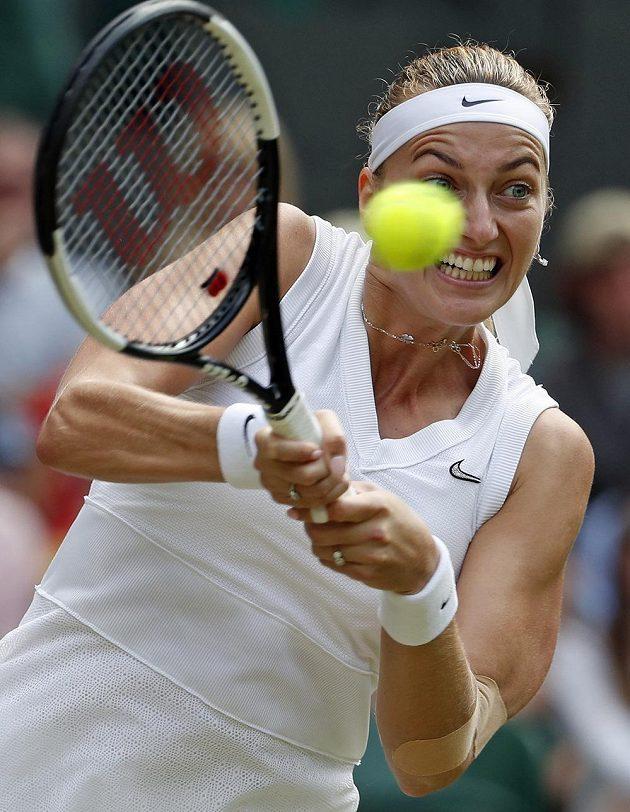 Zarputilý výraz v očích české tenistky Petry Kvitové.