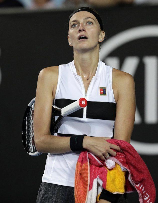 Česká tenistka Petra Kvitová si může oddechnout, zápas prvního kola Australian Open zvládla.