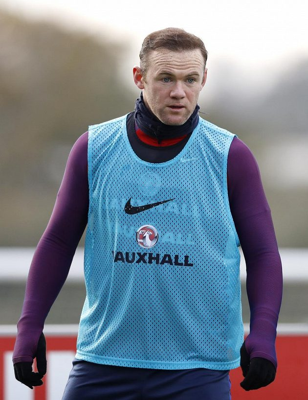 Wayne Rooney během tréninku reprezentace