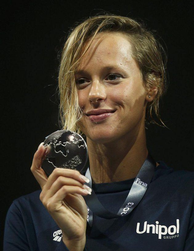 Federica Pellegriniová z Itálie získala na dvousetmetrové trati stříbro.